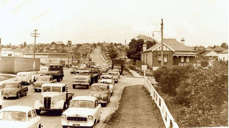 Church Street, approach to Ryde Bridge, Ryde, NSW. c 1959