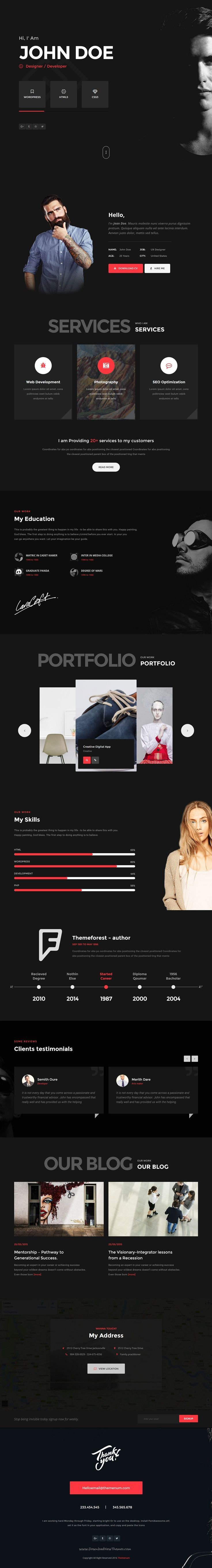 Themenum is a perfect vCard #resume #bootstrap template for #graphic designers, photographers or freelancers download now➯ https://themeforest.net/item/themenum-personal-vcard-resume-cv-html-template/16497276?ref=Datasata