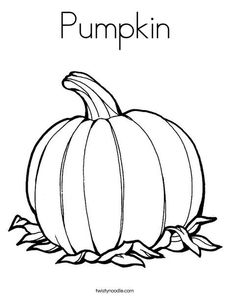 Pumpkin Coloring Page - Tracing - Twisty Noodle