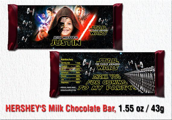 Star Wars candy wrapper Star Wars party favor by BogdanDesign