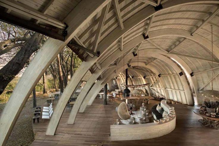 Intérieur au design moderne et créatif pour ce lodge luxueux de vacances exotiques