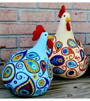 Veja aqui passo a passo como fazer galinhas de cabaça