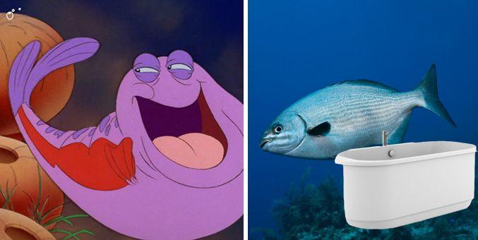32 best images about little mermaid on pinterest disney for Little mermaid fish