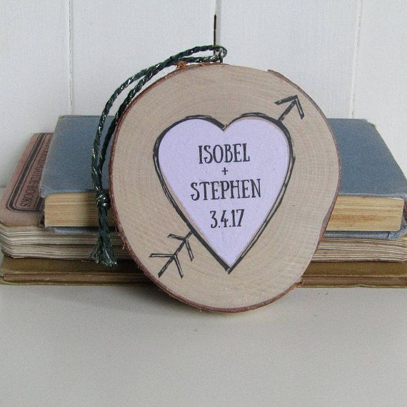This beautifully made Personalised Heart Keepsake is made from a slice of a silver birch branch. It makes the perfect gift to celebrate a romantic occasion - a 5th Wooden Wedding Anniversary, Valentines Day, Birthday or Christmas. The heart has been hand painted using pastel chalk paint, and then personalised with names and a date. The wood slices I use to make my keepsakes are sawn from silver birch tree branches. They retain the natural bark layer around the edge, which makes each one…