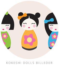 Printable: Kokeshi Dolls Billeder
