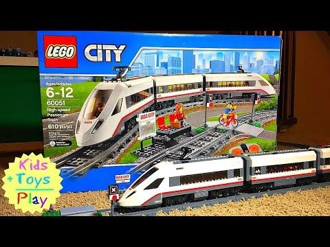 Lego City Train Fast Build | Speed Build Lego High Speed Train 60051 | Lego Building Train Crashes - YouTube