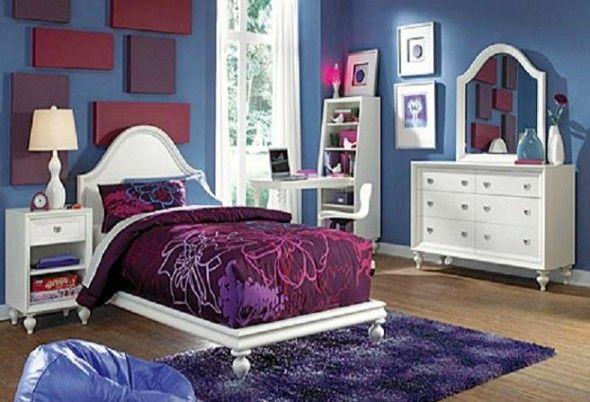 White Purple And Blue Walls Make The Room Alive Purple