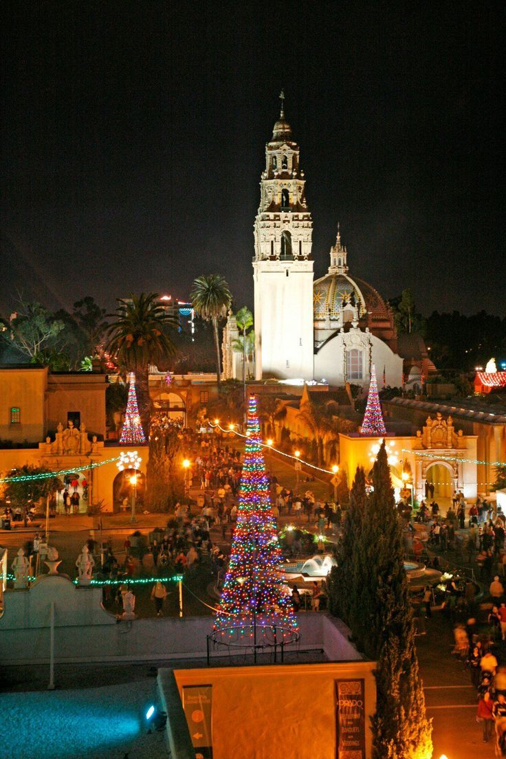 The December Nights holiday celebration at San Diego's Balboa Park.