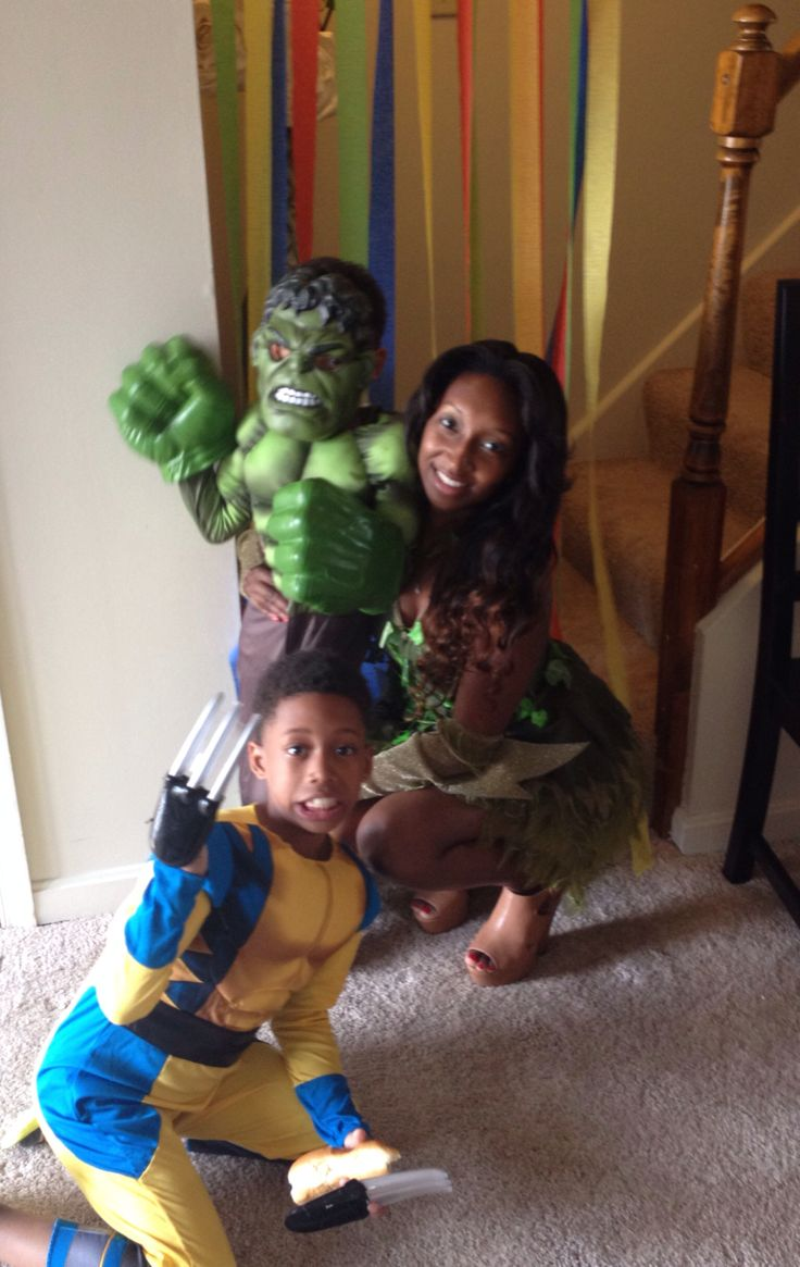 Our Favs Hulk Wolverine Poison Ivy!   Kams 5th b day   Pinterest Poisonivy