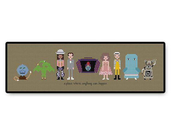 Pee Wee's Playhouse  Cross Stitch PDF Pattern by HugSandwich