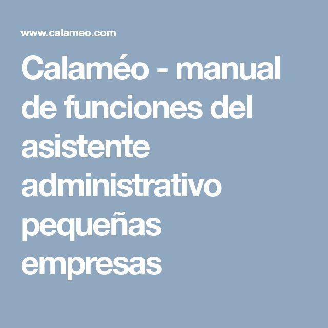 Calaméo - manual de funciones del asistente administrativo pequeñas empresas