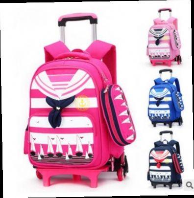 43.50$  Watch here - http://alitrt.worldwells.pw/go.php?t=32779073864 - Brand Kids Rolling Backpacks For School Children's Trolley bag  On wheels School Boy's Girls Trolley Suitcase Kids luggage Bags