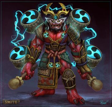 Raijin Japanese God of Thunder -- #raijin - DeviantArt