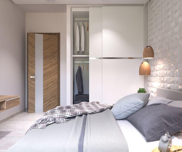 Спальня с 3D панелями - Галерея 3ddd.ru
