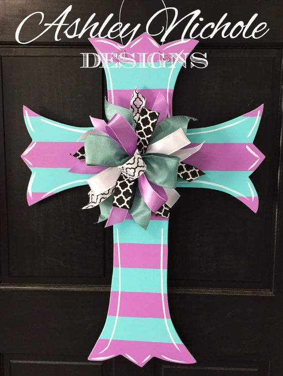 This large beautiful cross represents everything that Easter means!! This wooden door decor cross or home decoration would be a great item
