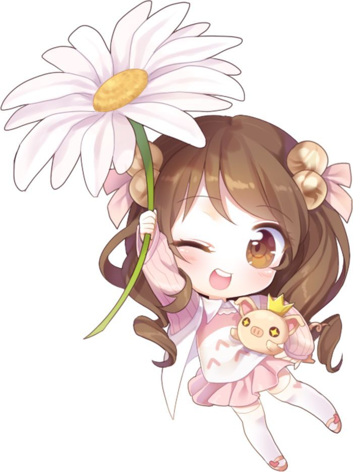 Kawaii Chibi Art Anime Girl