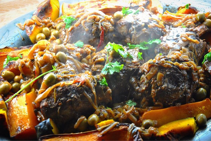 food Braised pork shanks. Roasted squash. | Food | Pinterest | Roasted ...