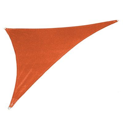 Coolaroo 4745 Ultra 15-ft x 12-ft x 9-ft Right-Triangle Shade Sail with Professional Installation Kit