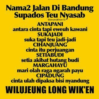 Name of locations in Sundanese