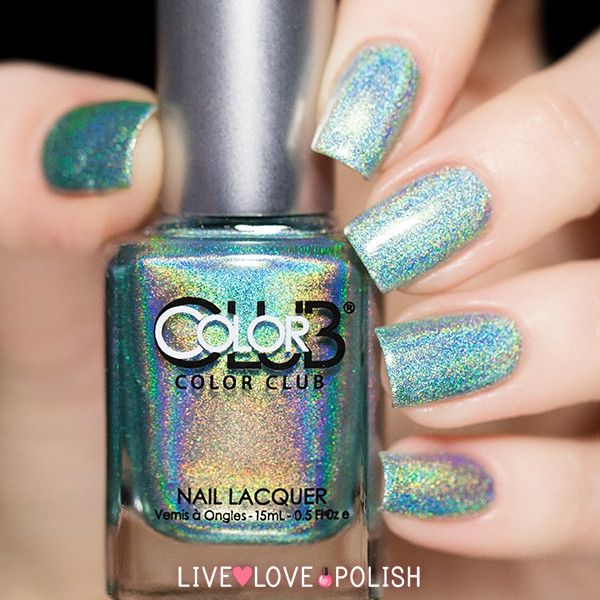 Mint holographic love!! http://www.livelovepolish.com/collections/all/products/color-club-angel-kiss-nail-polish-halo-hues-collection