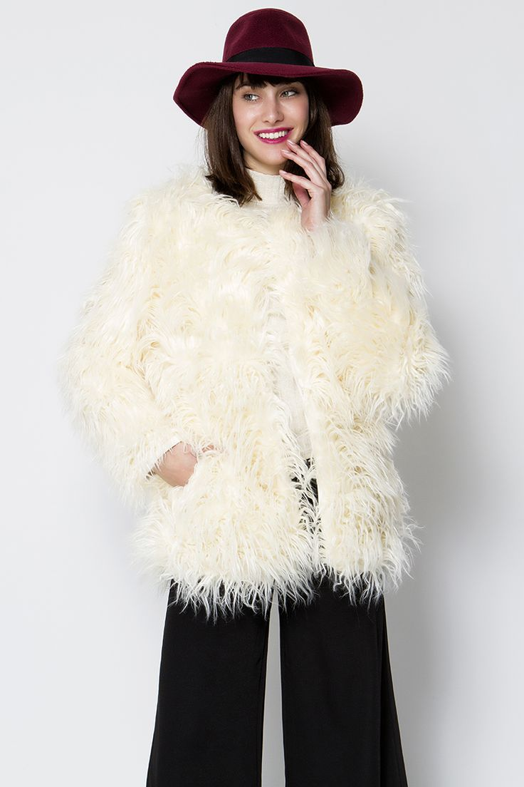 Faux Fur Jacket - ΡΟΥΧΑ -> Παλτό & Jackets   Made of Grace