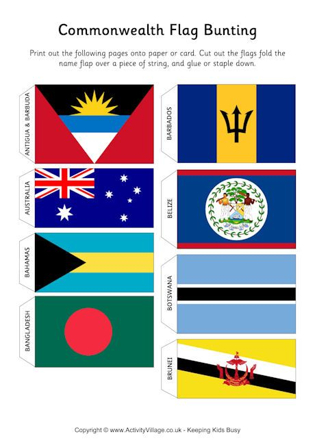 Commonwealth flag bunting