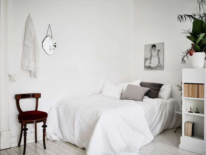 Small Studio Apartment In White And Grey. Small Studio ApartmentsCozy  BedroomSmall ...