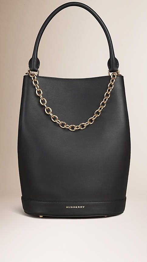 Black The Bucket Bag in Leather - Image 1