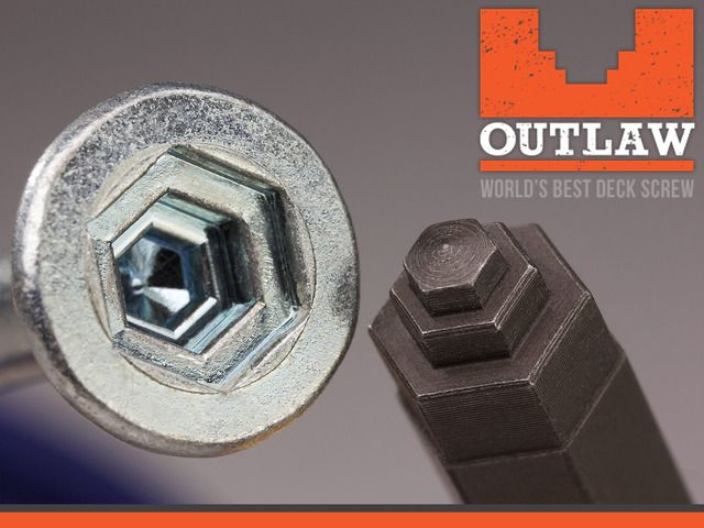 Screwing Reinvented: The World's Best Deck Screw by Outlaw Fasteners — Kickstarter