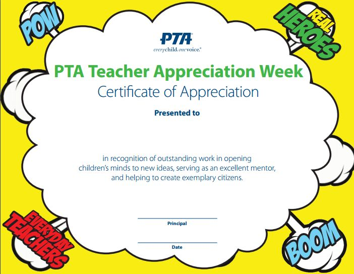 128 best images about teacher appreciation week on for Principals list certificate template