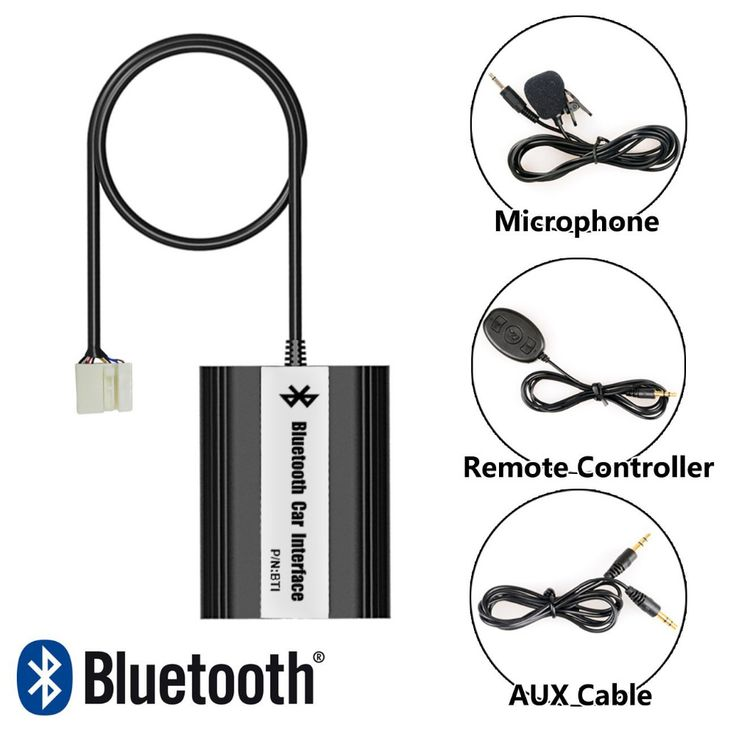 Bluetooth Receiver Car Kit Hands Free Phone Call Wireless