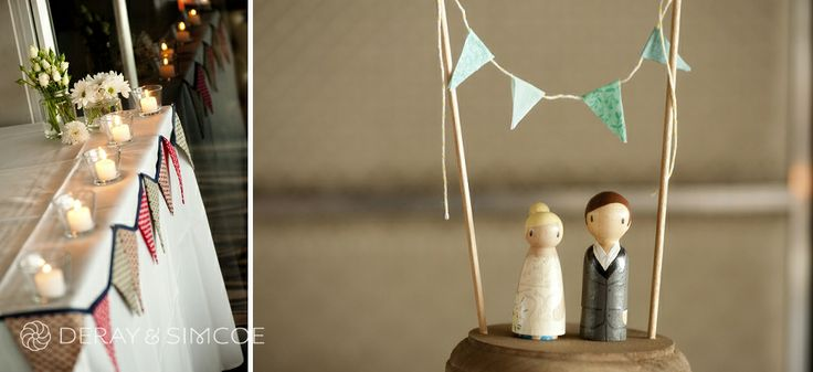 DIY wedding cake topper & bunting. Venue: Breakwater hotel, Hillarys Boat Harbour Perth. Photography by DeRay & Simcoe