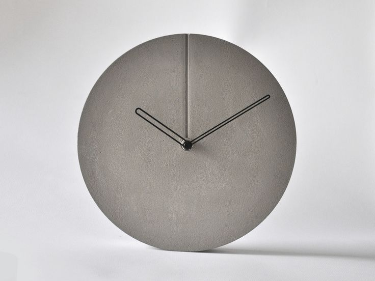 16 Best Concrete Clock Images On Pinterest