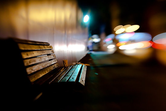 bench@night photographic print $10.20