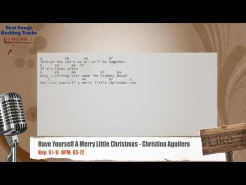 Have Yourself A Merry Little Christmas - Christina Aguilera Vocal Backing Track