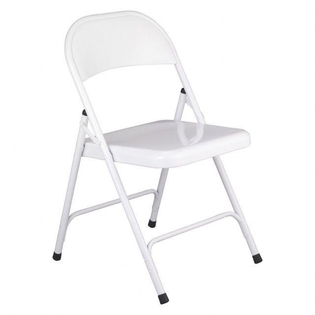 MACADAM White metal folding chair