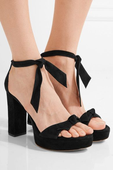 Alexandre Birman - Clarita Bow-embellished Suede Sandals - Black - IT