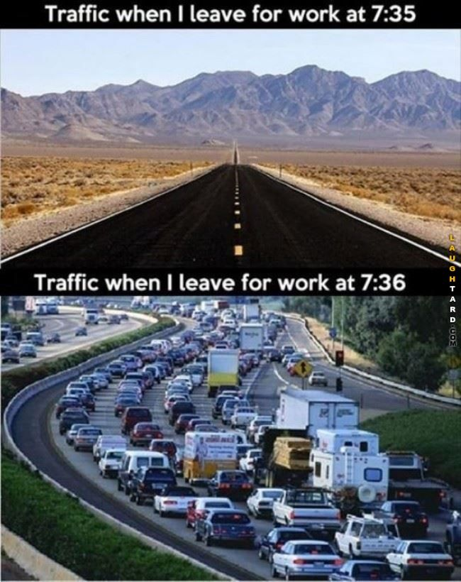 Traffic in the mornings