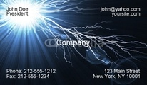 Customize this electrifying business card template.