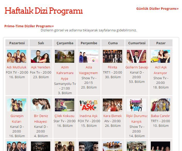 Haftalık #dizi  programı http://1001dizi.net/haftalik_dizi_programi