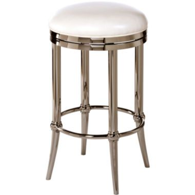 Hoffman Backless Swivel Barstool Polished Finish Found At Jcpenney Barstools Pinterest Furniture Hilale And Bar Stools