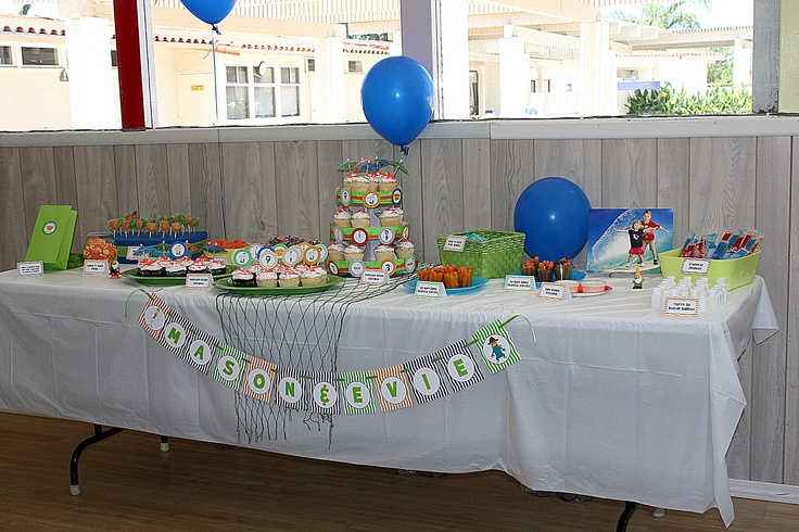 Phineas and Ferb dessert table