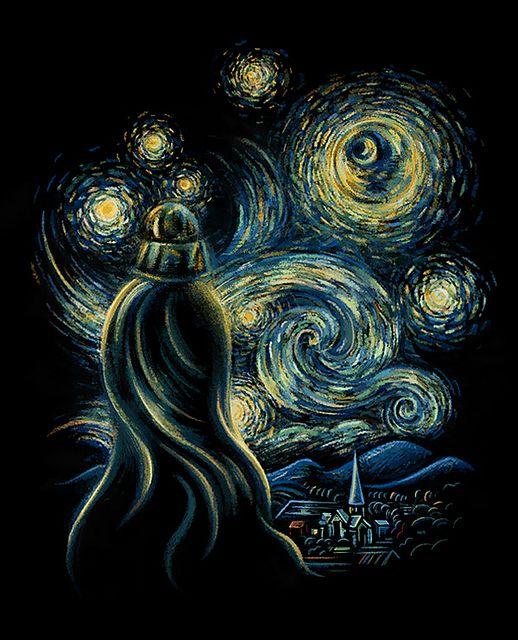 """(Darth Vader's) Starry Night by Enkel Dika based on Van Gogh's """"Starry Night"""""""
