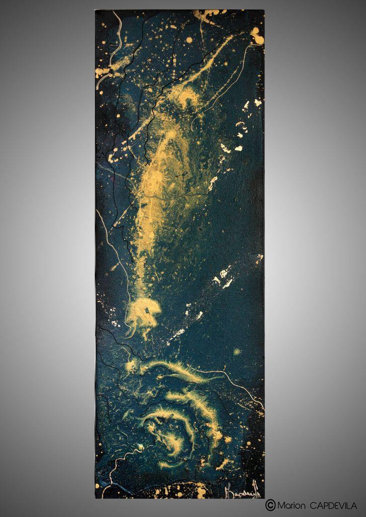 Lagon tableau peinture acrylique art abtrait moderne art - Tableau peinture acrylique ...
