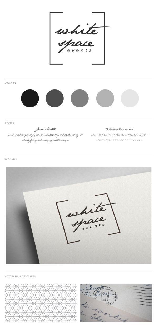 White Space Events branding, via Behance #logo #creative #events