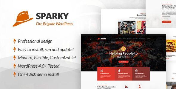 Sparky Fire Brigade Wordpress Theme Wordpress Theme Wordpress