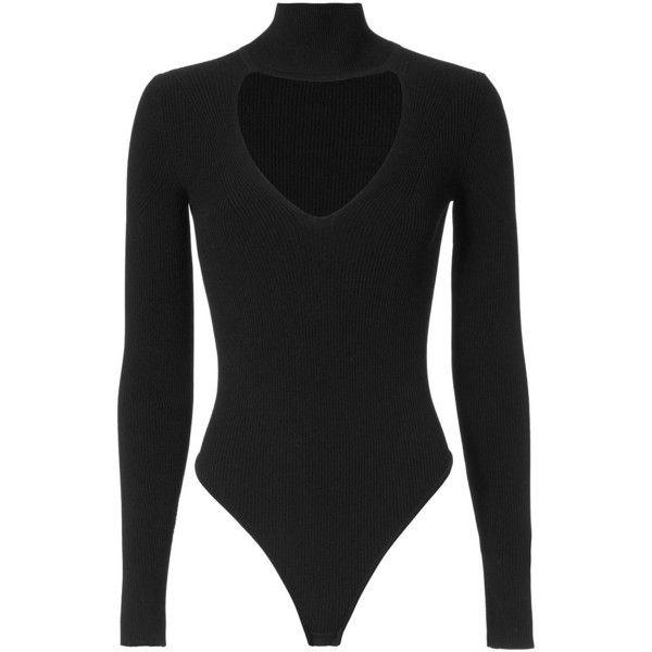 Cushnie Et Ochs Turtleneck Bodysuit (€610) ❤ liked on Polyvore featuring intimates, shapewear and black