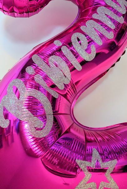 All that glitters... could be a personalised balloon. Personalised names in glitter for a very personalised balloon. www.getpersonalised.net