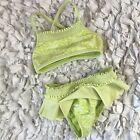 Calypso St Barths Baby Bikini Grüner Badeanzug Mädchen12 Monate 2 Stück Klein …   – Children's Bikini