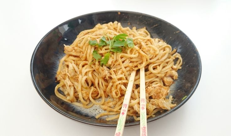 Syn Free Slimming World Slow Cooker Chinese Chicken Noodles Recipe - Serves 4